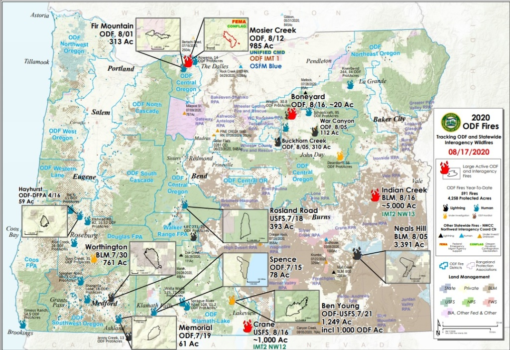 Oregon Fire Map Current Current Wildfire Information | Malheur County Health Department